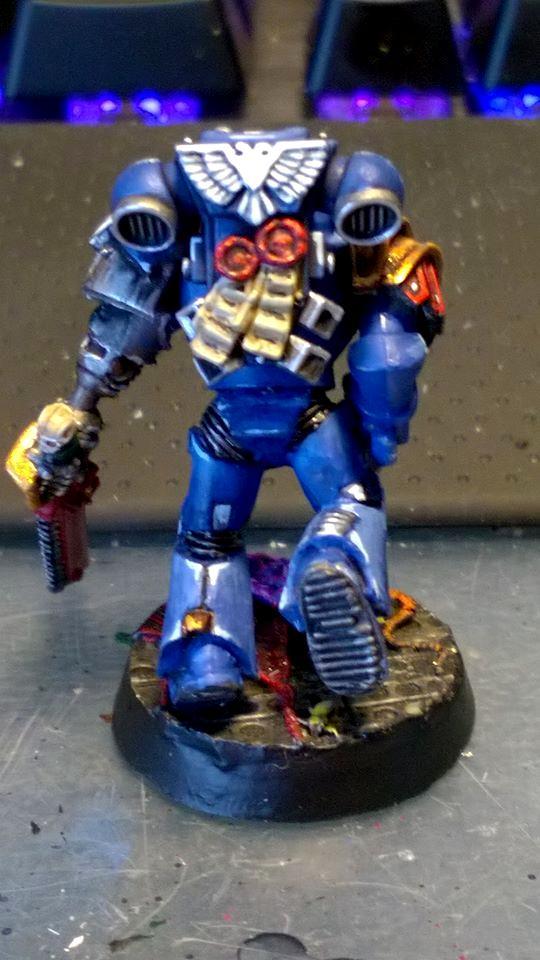 Forgeworld Parts, Freehand, Sergeant, Squad Leader, Ultramarines, Work In Progress