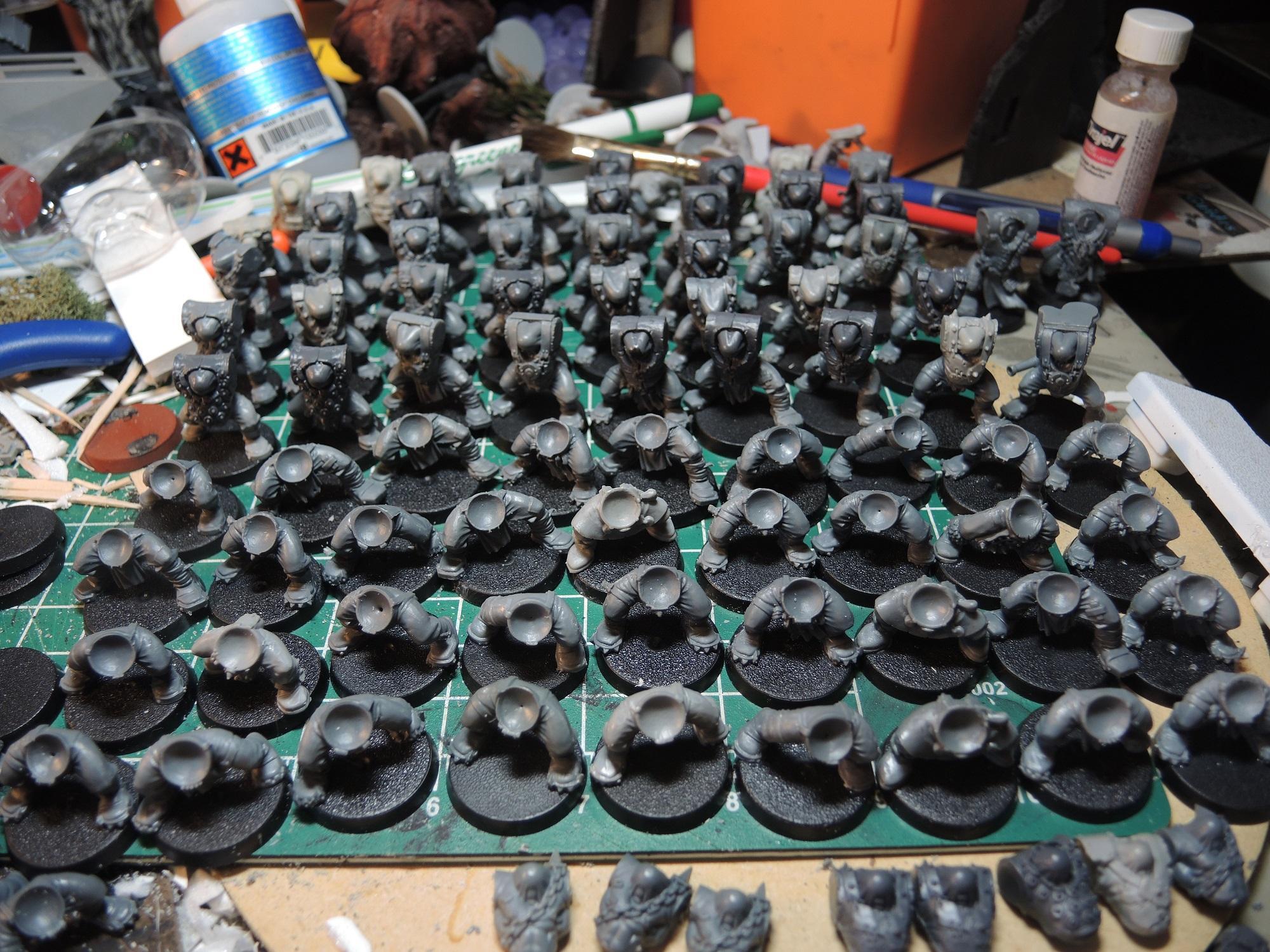 Badmoons, Boy, Boys, Deathskulls, Hordes, Mobs, Orks, Waaazag, Warhammer 40,000, Work In Progress