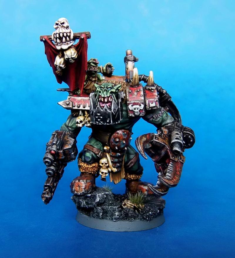 Feral Ork, Mega Nob, Orks, Painted, Warboss