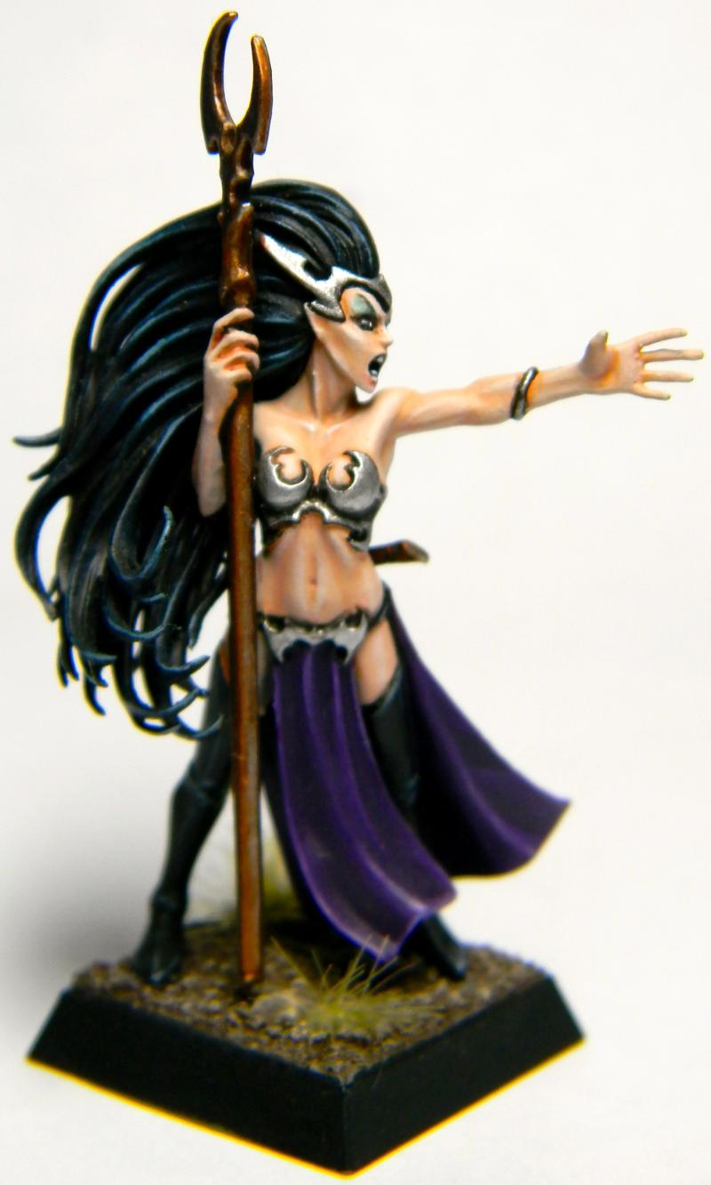 Dark Elves, Sorceress, Warhammer Fantasy, Wizard
