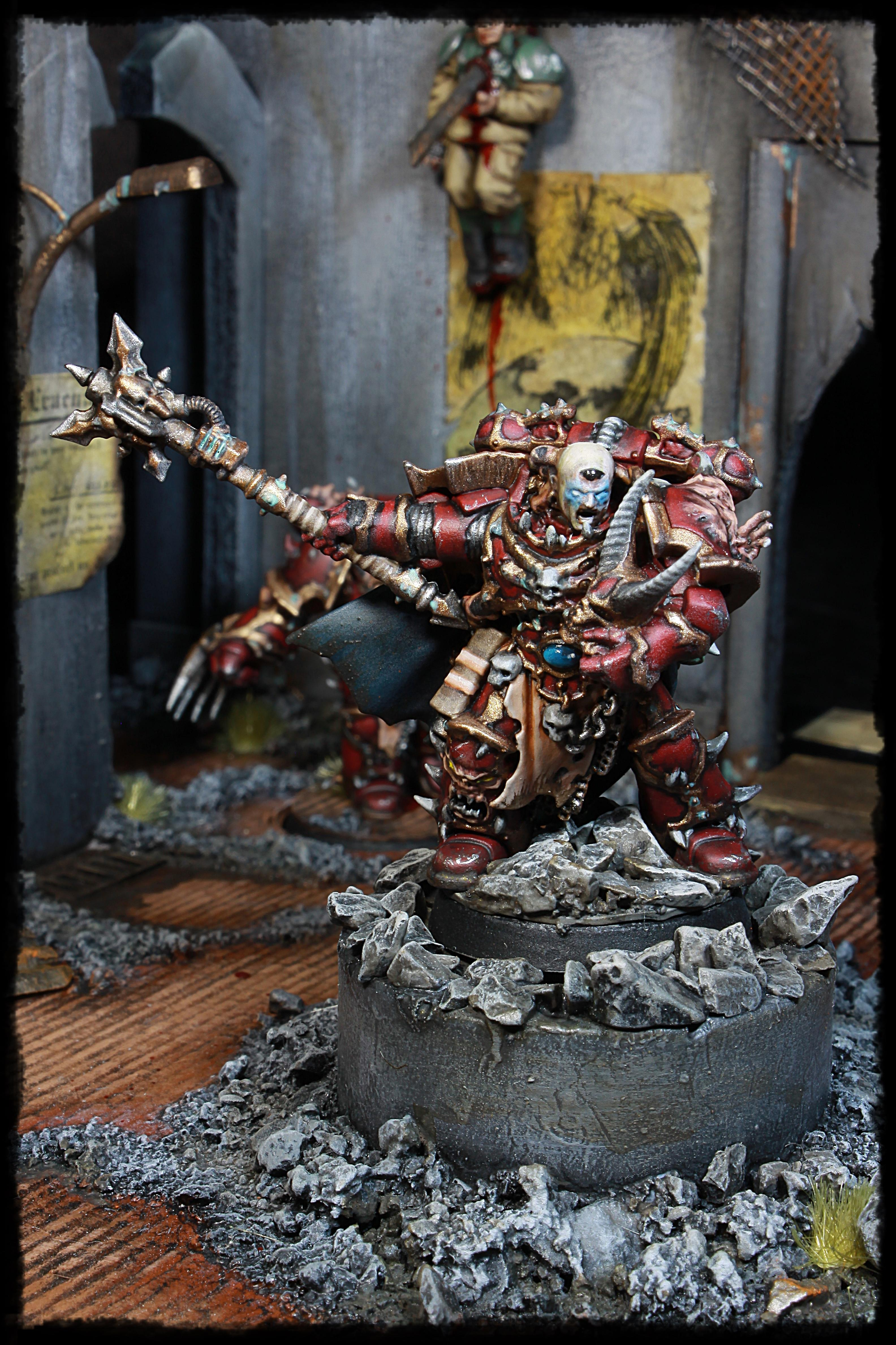 Chaos, Chaos Space Marines, Crimson Slaughter, Dark Vengeance, Diorama, The Chosen, The Ravagers