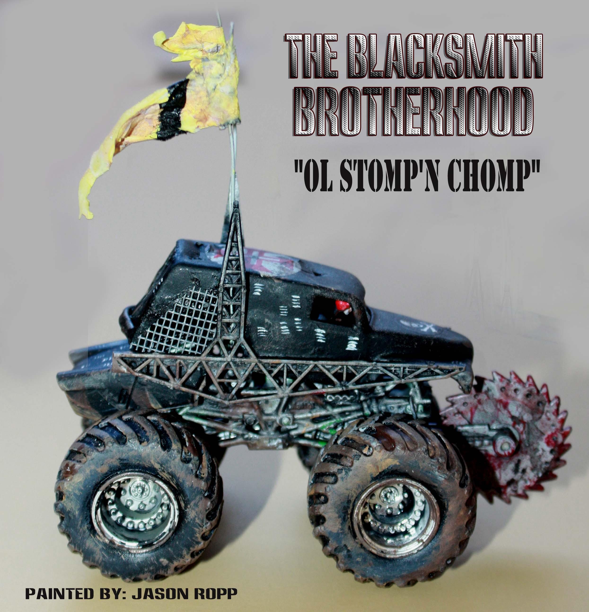 666, Battle Cars, Blacksmith, Brotherhood, Cars, Chomp, Combat, Conversion, Dark Future, Devil's Run, Devil's Run 666, Fury, Fury Road, Game, Gamer, Hot Wheels, Mad Max, Matchbox, Miniatures, Monster Trucks, Post Appacoliptic, Road, Stomp, Thunderdome, Trucks, Vehicle, War, Wargame, Wargamer
