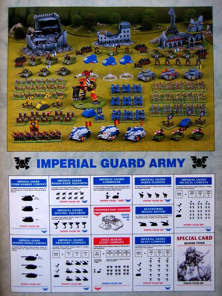 Epic, Imperial Guard, Reaver, Space Marines, Thunderhawk, Titan