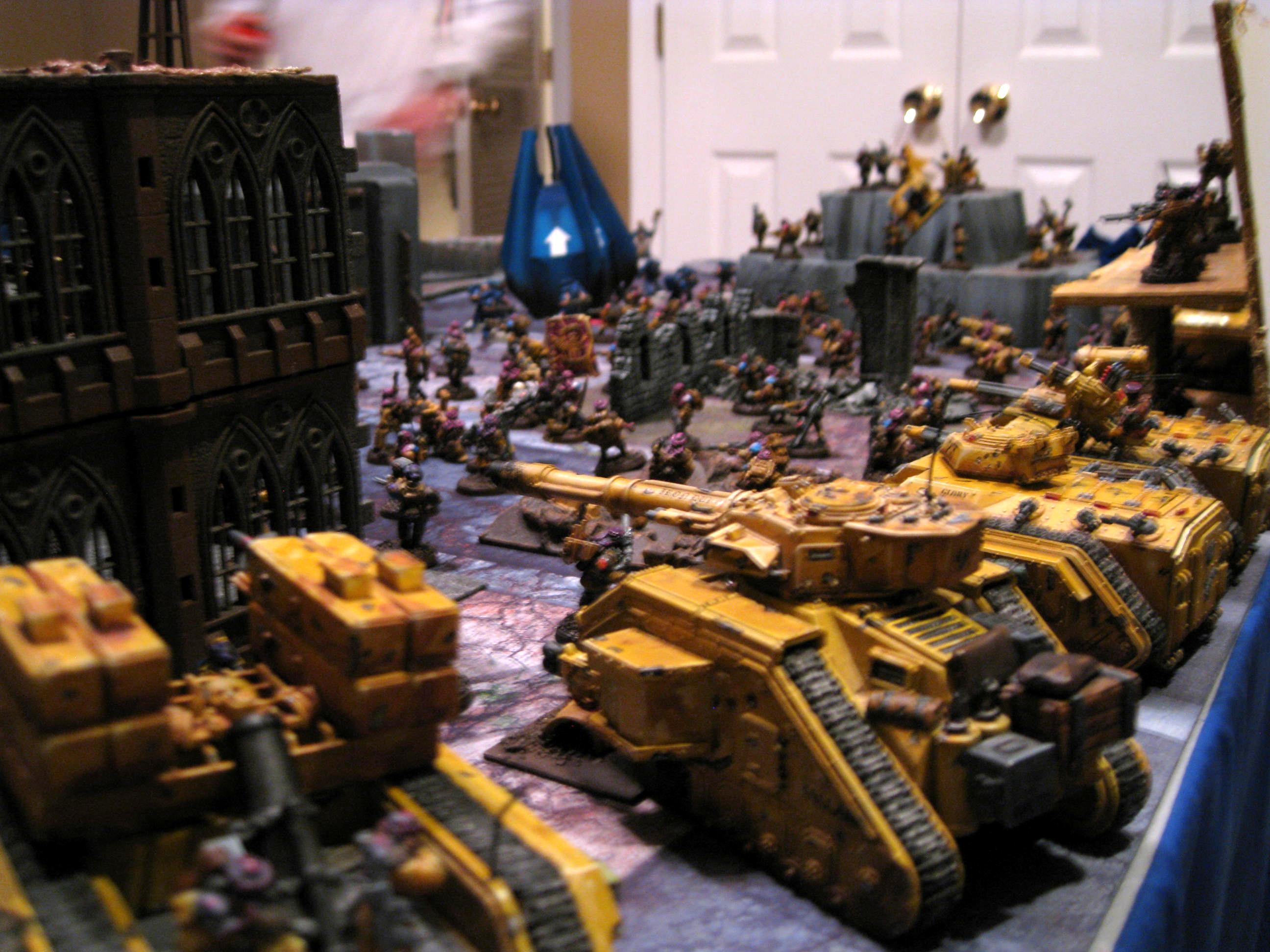 Astra Militarum, Chimera, Imperial Guard, Infantry, Platoon, Tallarn Desert Raiders, Vanquisher, Wyvern