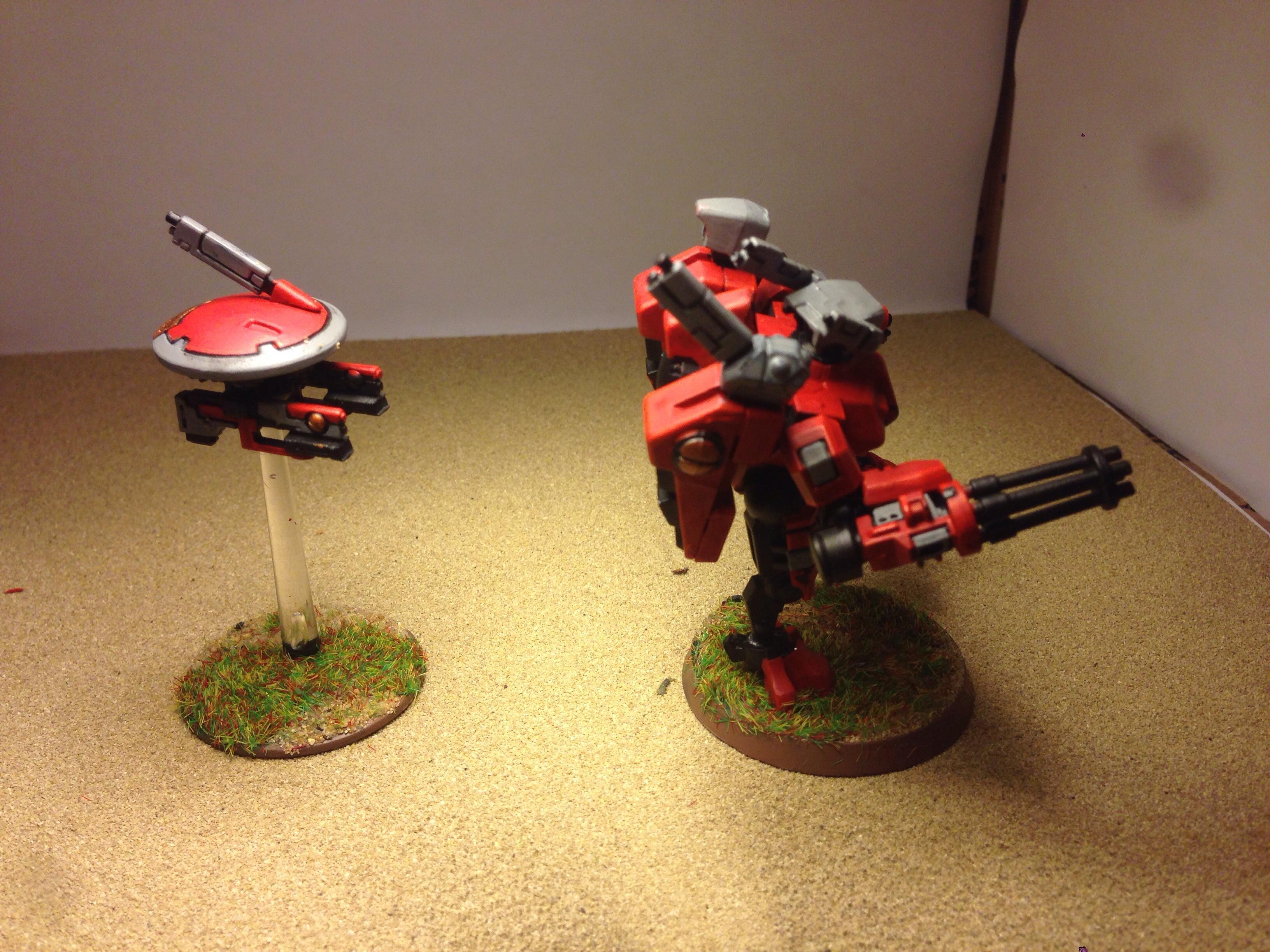 Army, Commander, Drone, Gun, Tau, Warhammer 40,000, Xv-8