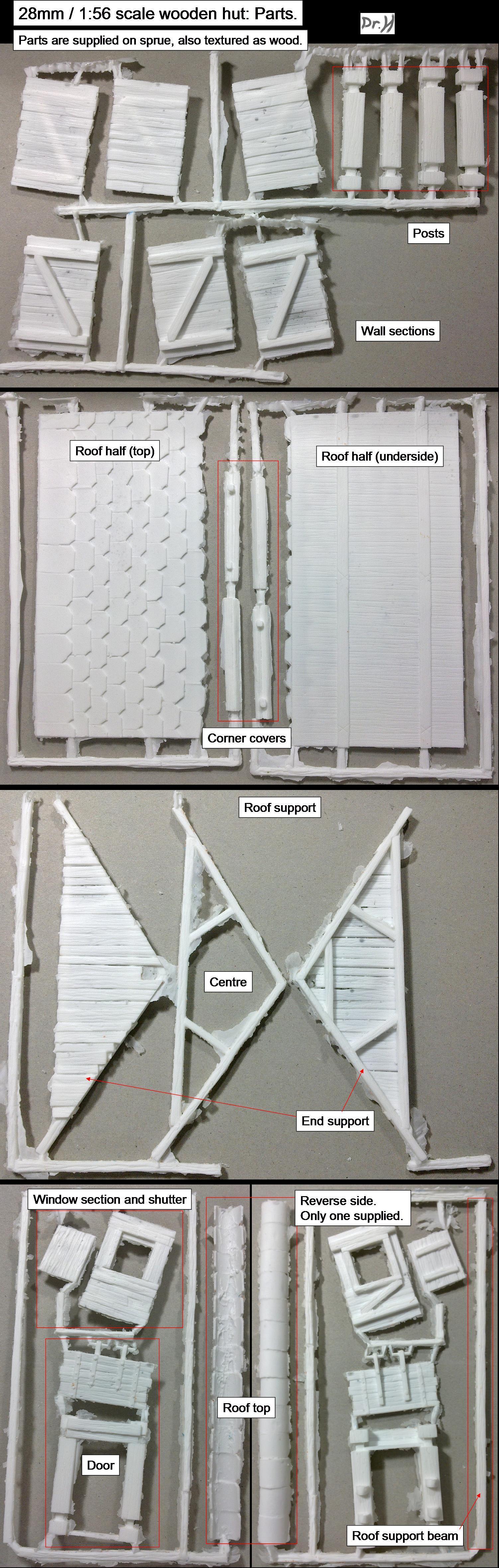 Hut Kit parts identification