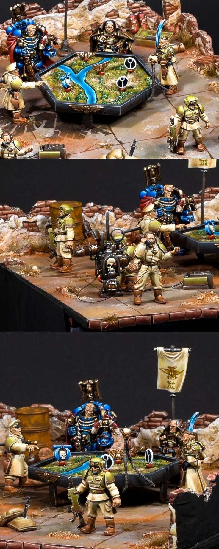 Astra, Command, Commander, Creed, Diorama, Guard, Imperial, Imperial Guard, Map, Planning, Space Marines