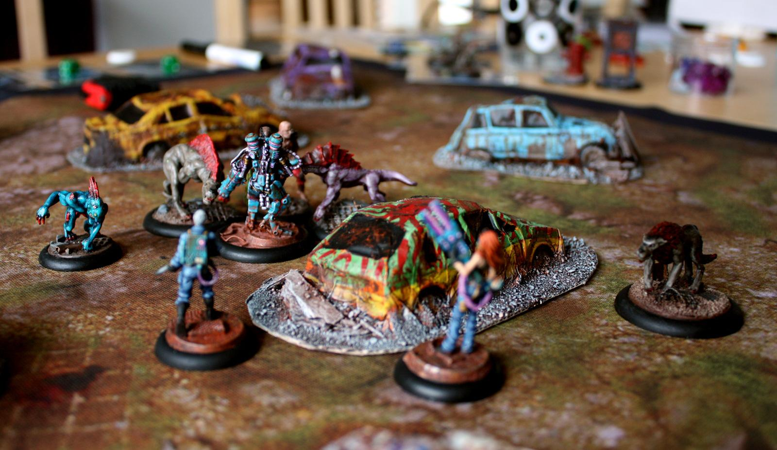 Apocalyptic, Askaris, Battleflags, Cars, Eden, Escape, Horde, Mutant, Pink, Post, Resistance, Skirmish, Turquoise, Wrecks