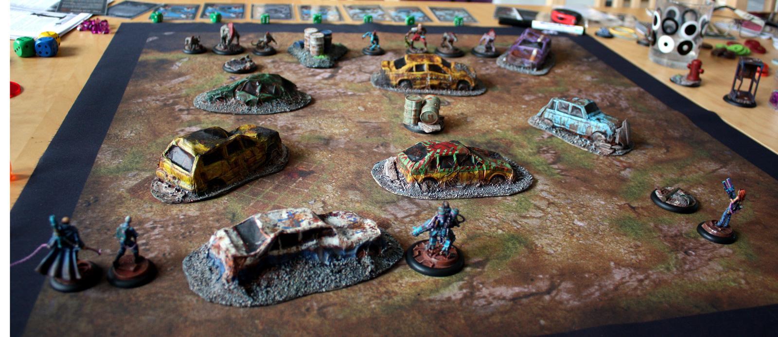 Apocalyptic, Askaris, Battleflags, Cars, Eden, Escape, Horde, Mutant, Pink, Post, Resistance, Skirmish, Turquoise, Wrecks