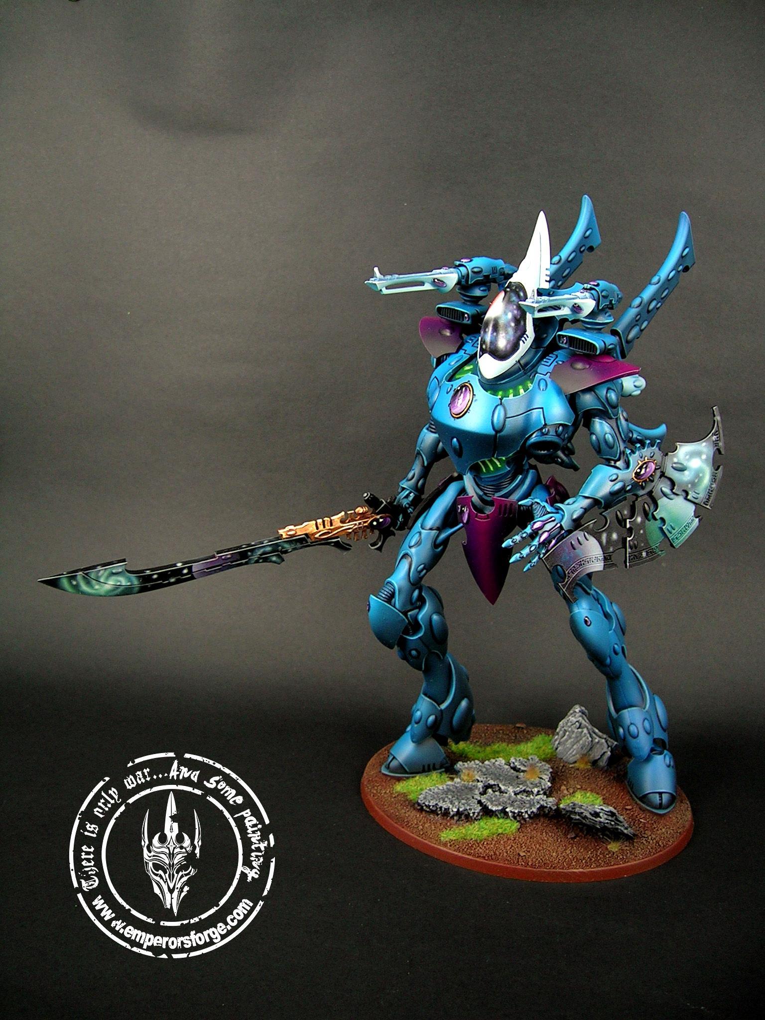 Blue, Cosmos, Eldar, Space, Wraithknight