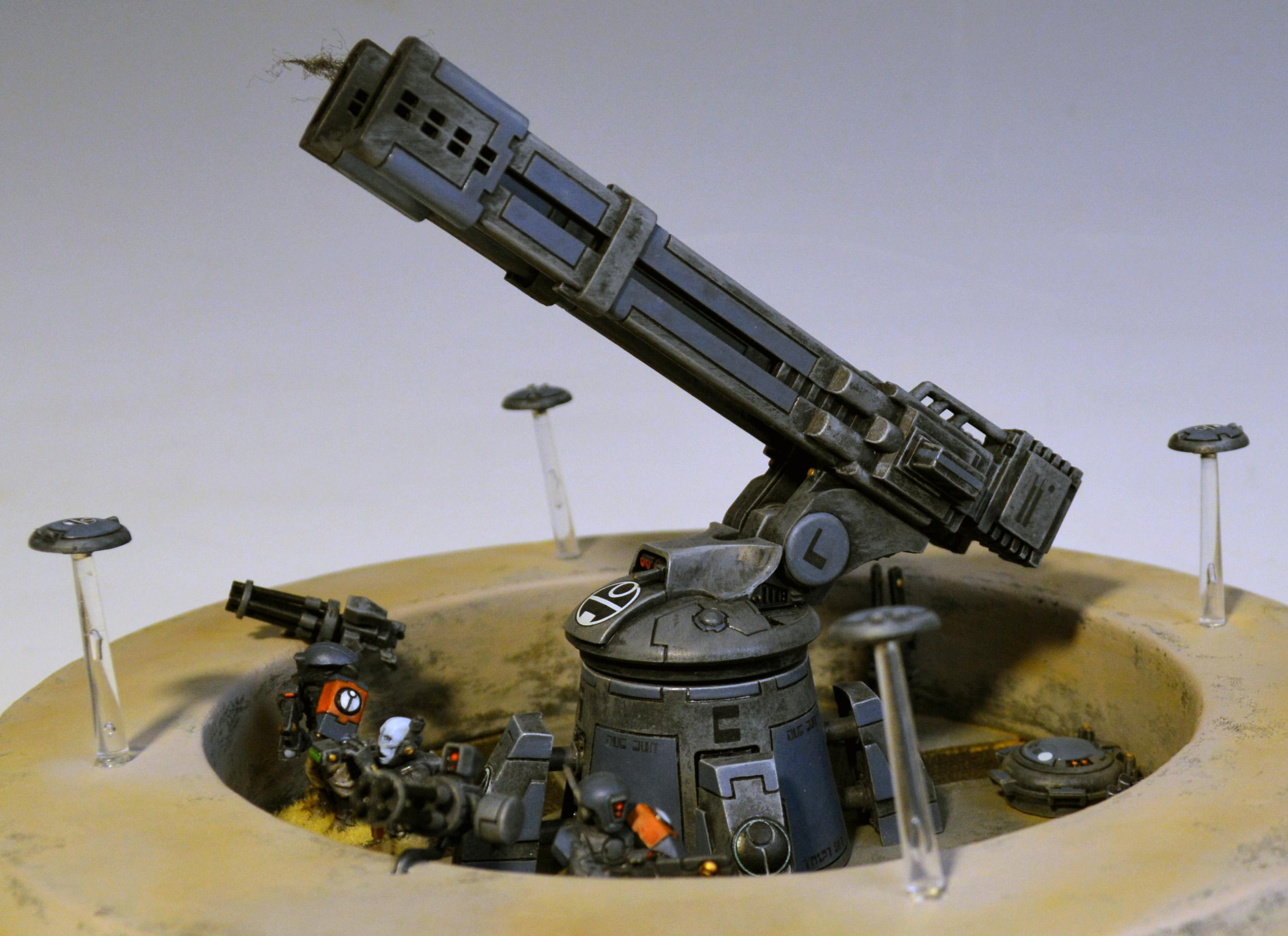 Area Denial Node, Emplacement, Gun, Tau, Terrain