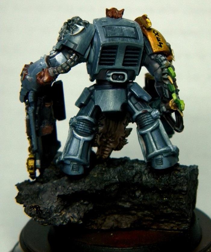 Rock Base, Space Wolves, Terminator Armor, Warhammer 40,000