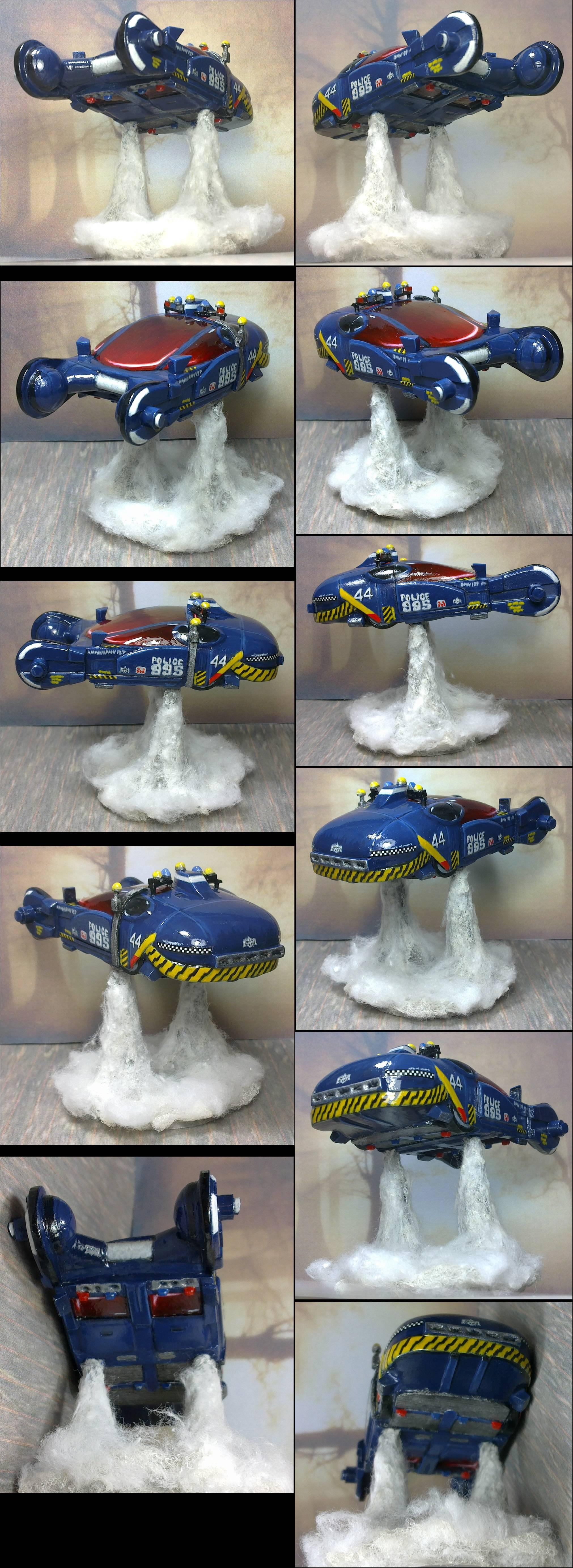 Scratch-built Police Spinner in ~1:64 to 1:72 scale