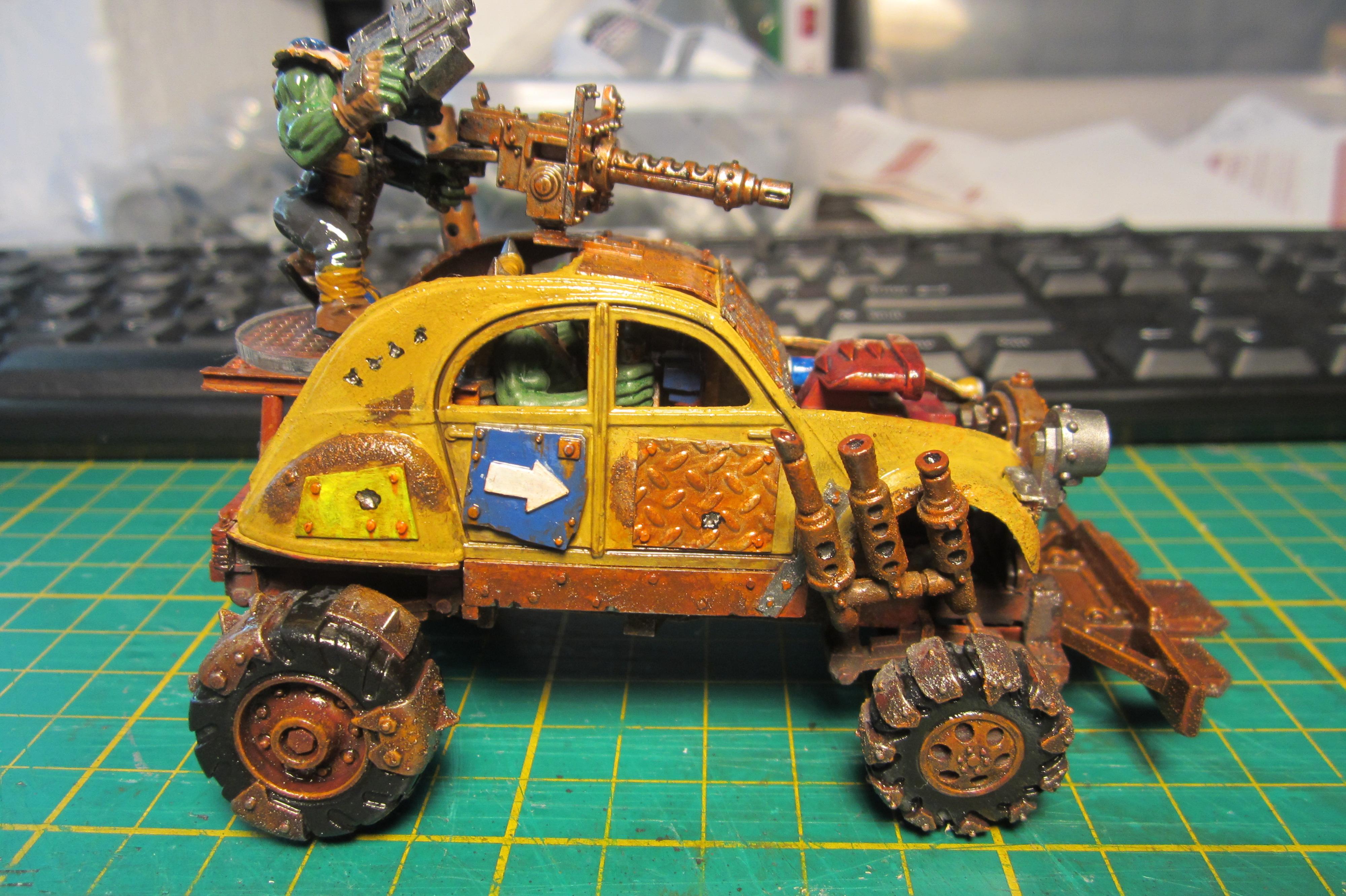 Army Painter, Conversion, Gorkamorka, Ork Buggies, Ork Buggy, Orks, Quickshade, Warhammer 40,000
