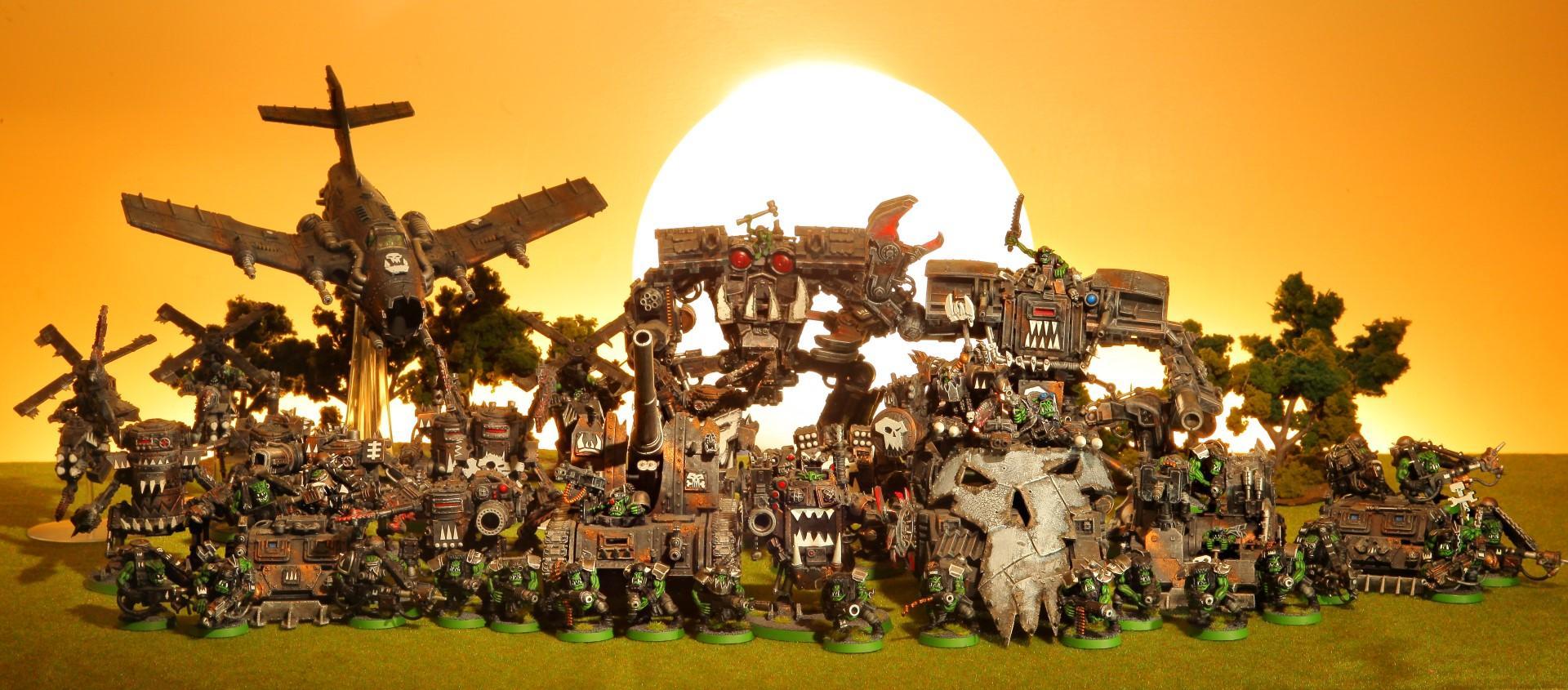 40k Orks, Big Mek, Big Meks, Big Trakk, Dakkajet, Deff Dread, Deff Dreads, Deff Mob, Deffkopta, Domo Kan, Domokan, Forgeworld Dread Mob, Gretchin, Grots, Killa Kan, Mega Dread, Mega Dreads, Mekboy, Ork Army, Ork Dread Mob, Orks, Painted Ork Army, Spanner Boy, Spanner Boyz, Warhammer 40k Orks