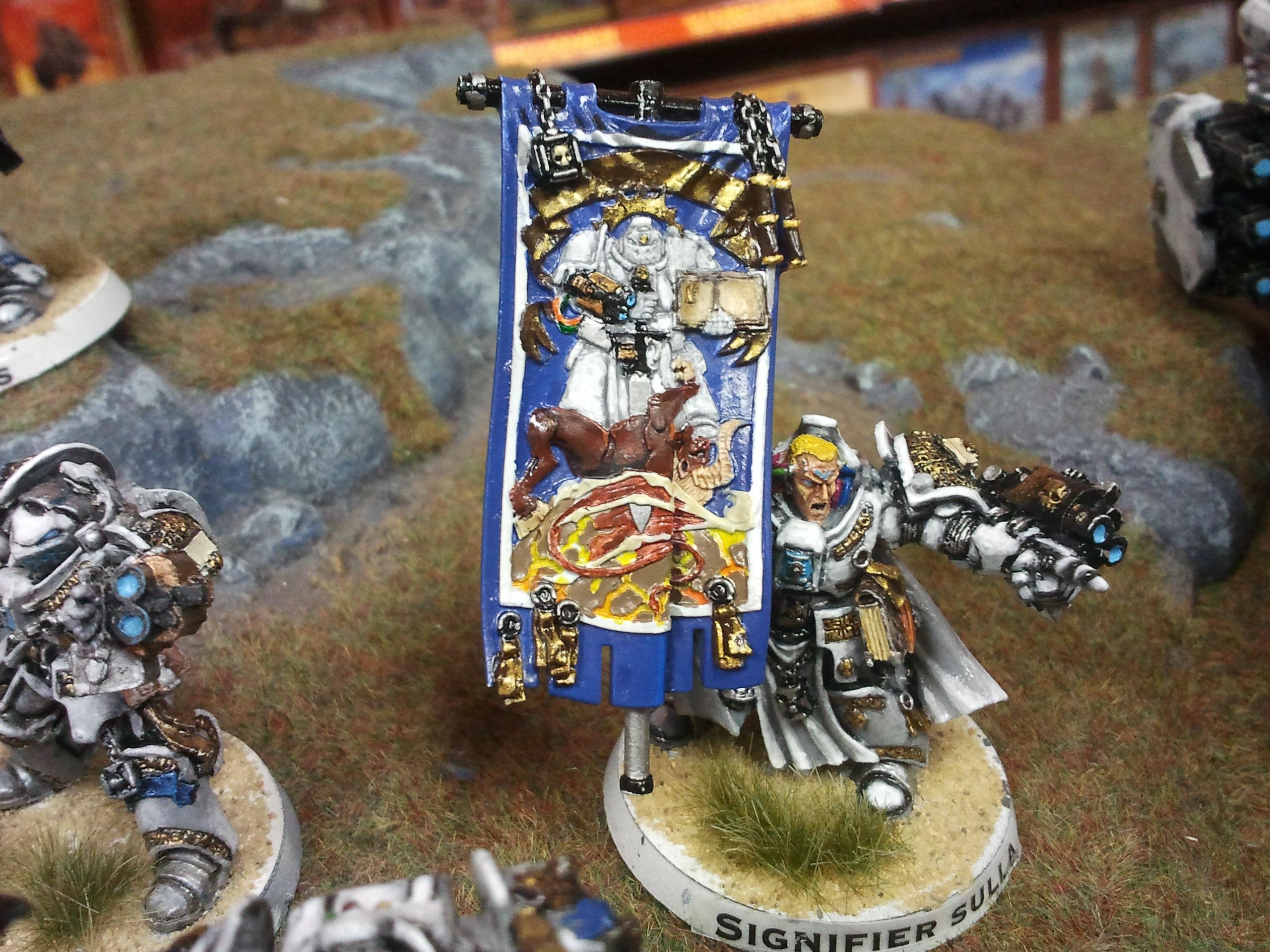 Banner, Grey Knights, Paladin, Stern, Terminator Armor, White