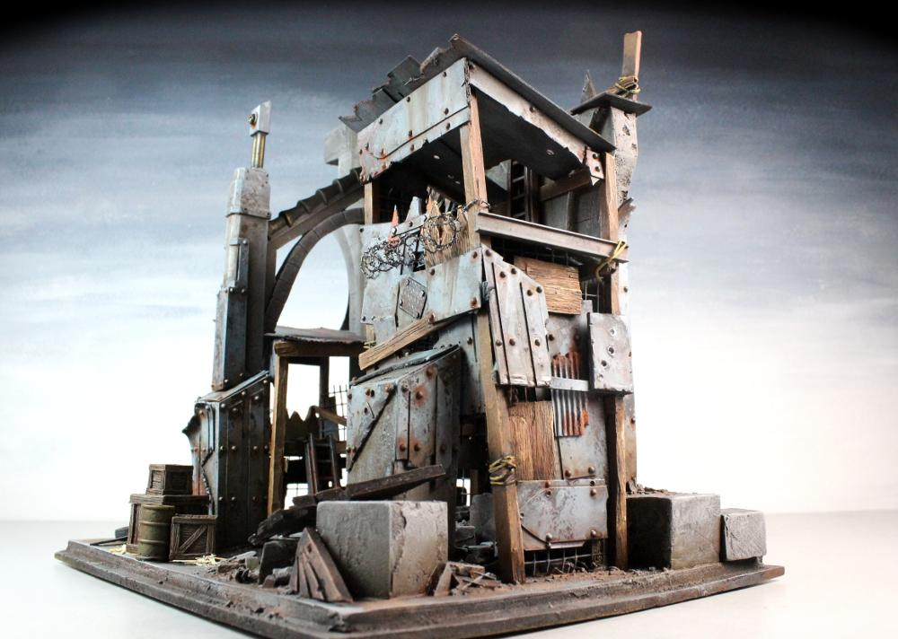 3t, Fort, Metal, Orks, Scrap, Scratch, Terrain, Urban