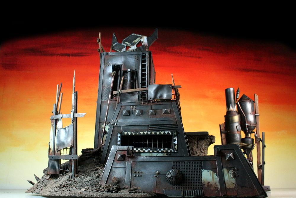 3t, Fort, Ironclad, Metal, Orks, Scrap, Scratch Build, Terrain