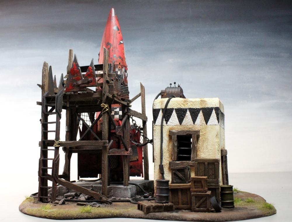 3t, Base, Orks, Rocket, Scratch Build, Terrain