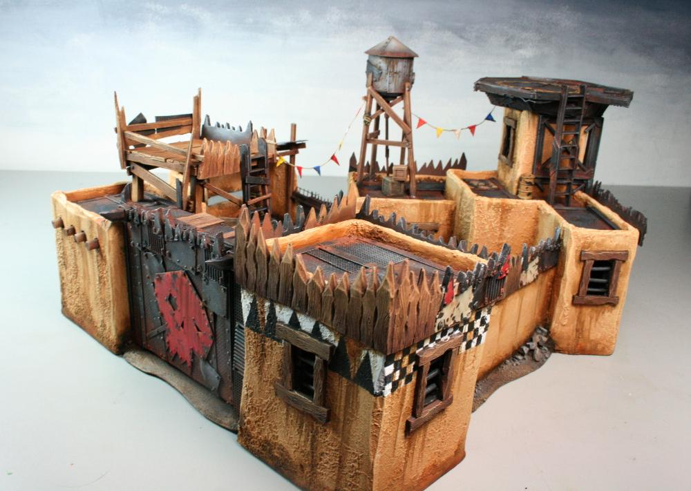 3t, Base, Compound, Fortress, Landing, Orks, Pad, Scratch Build, Stucco, Terrain