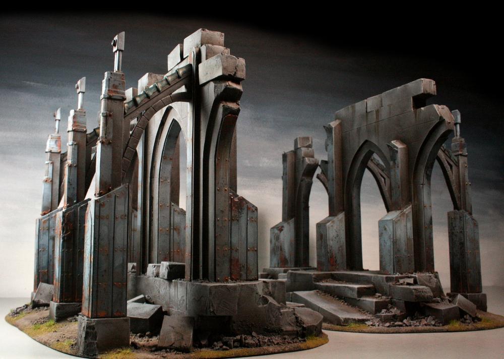 3t, Gothic, Imperial, Scratch Build, Terrain, Walls