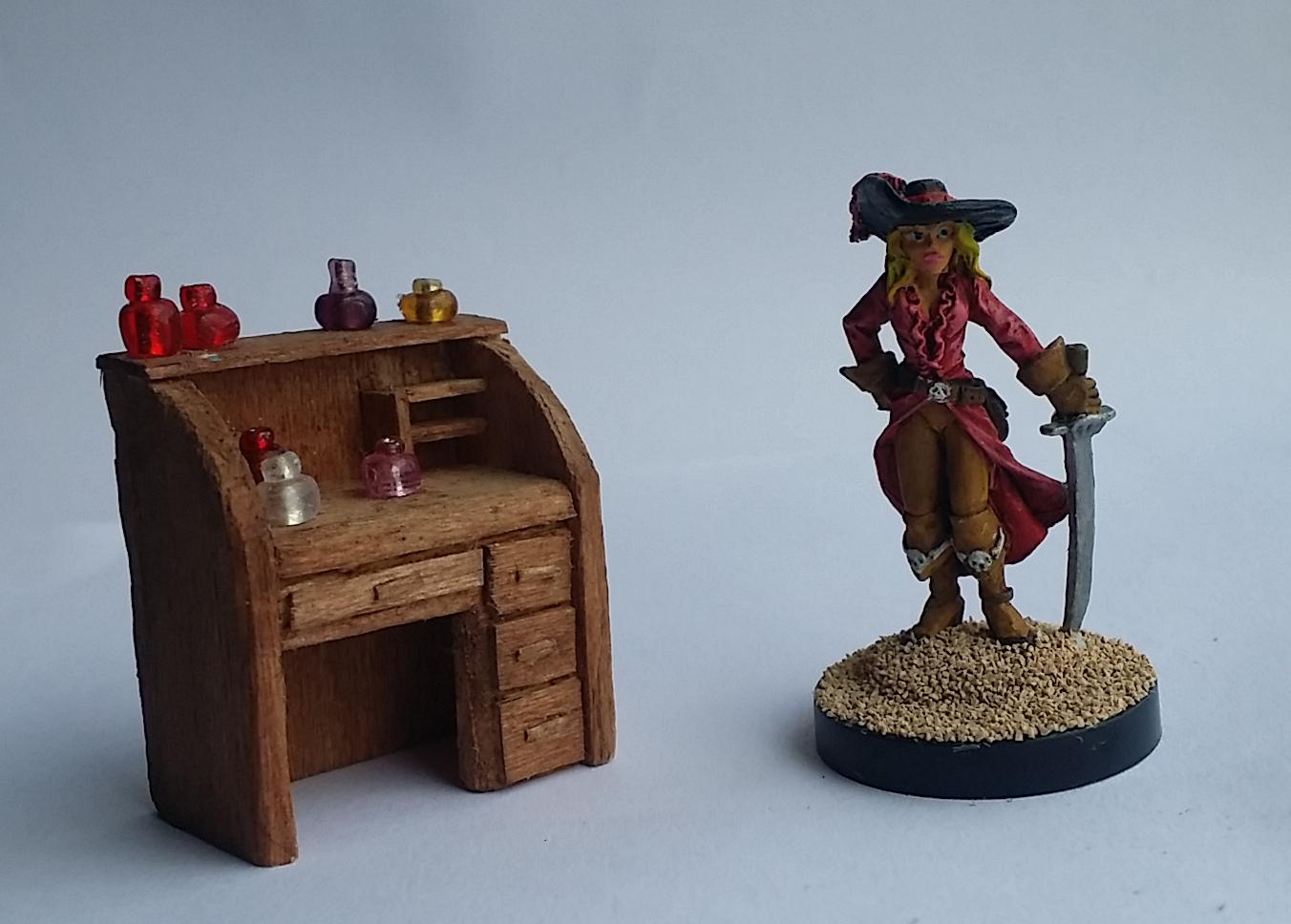 Desk, Pirate, Potions, Wood