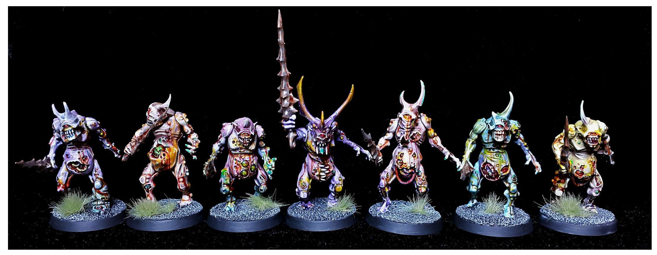Bearer, Colour, Daemons, Nurgle, Plage, Plaguebearers, Rot, Sigmar, Warhammer 40,000, Warhammer Fantasy, Zombie