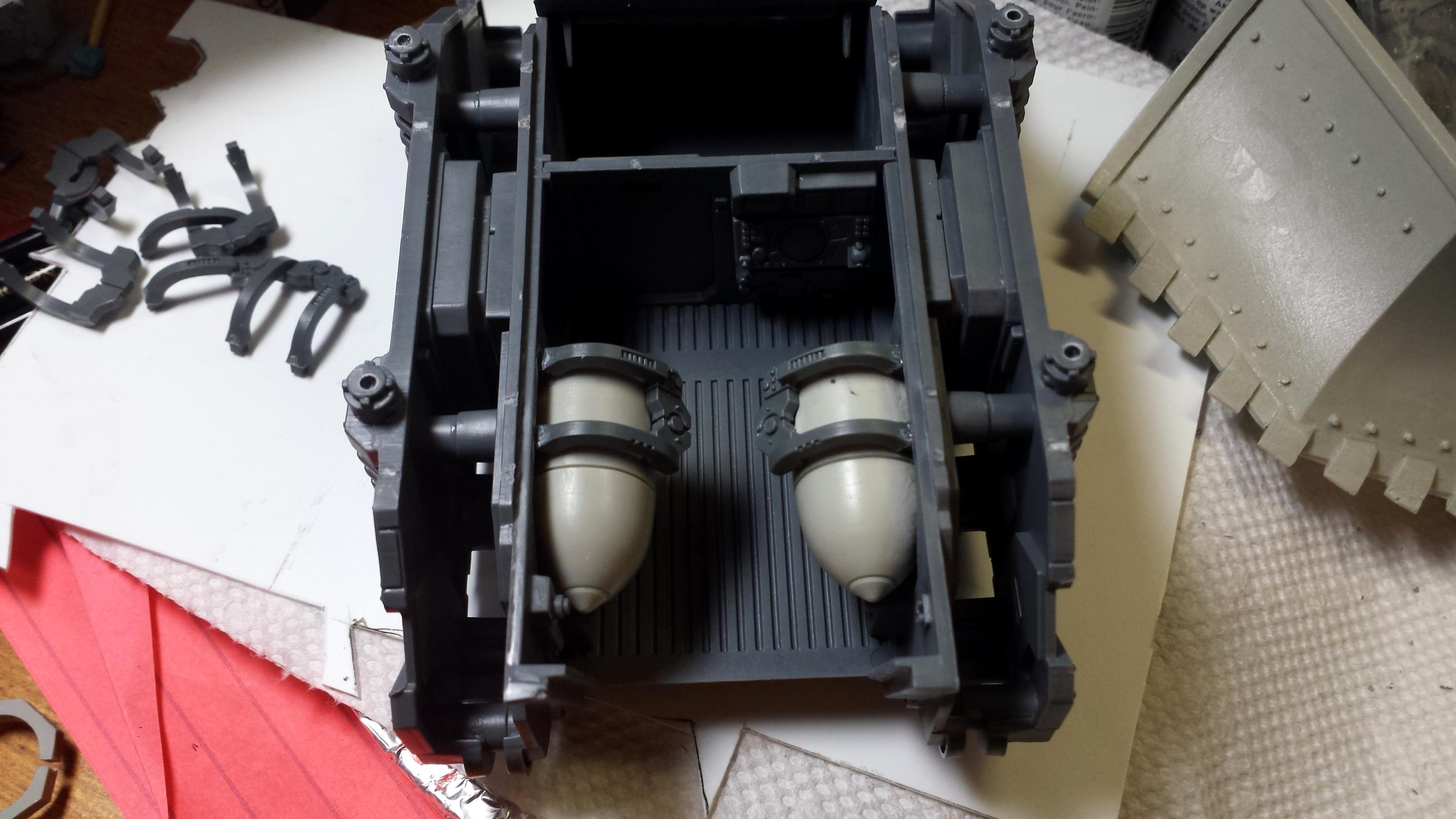 Conversion, Razorback, Rhino, Space Marines, Support Vehicle, Vindicator