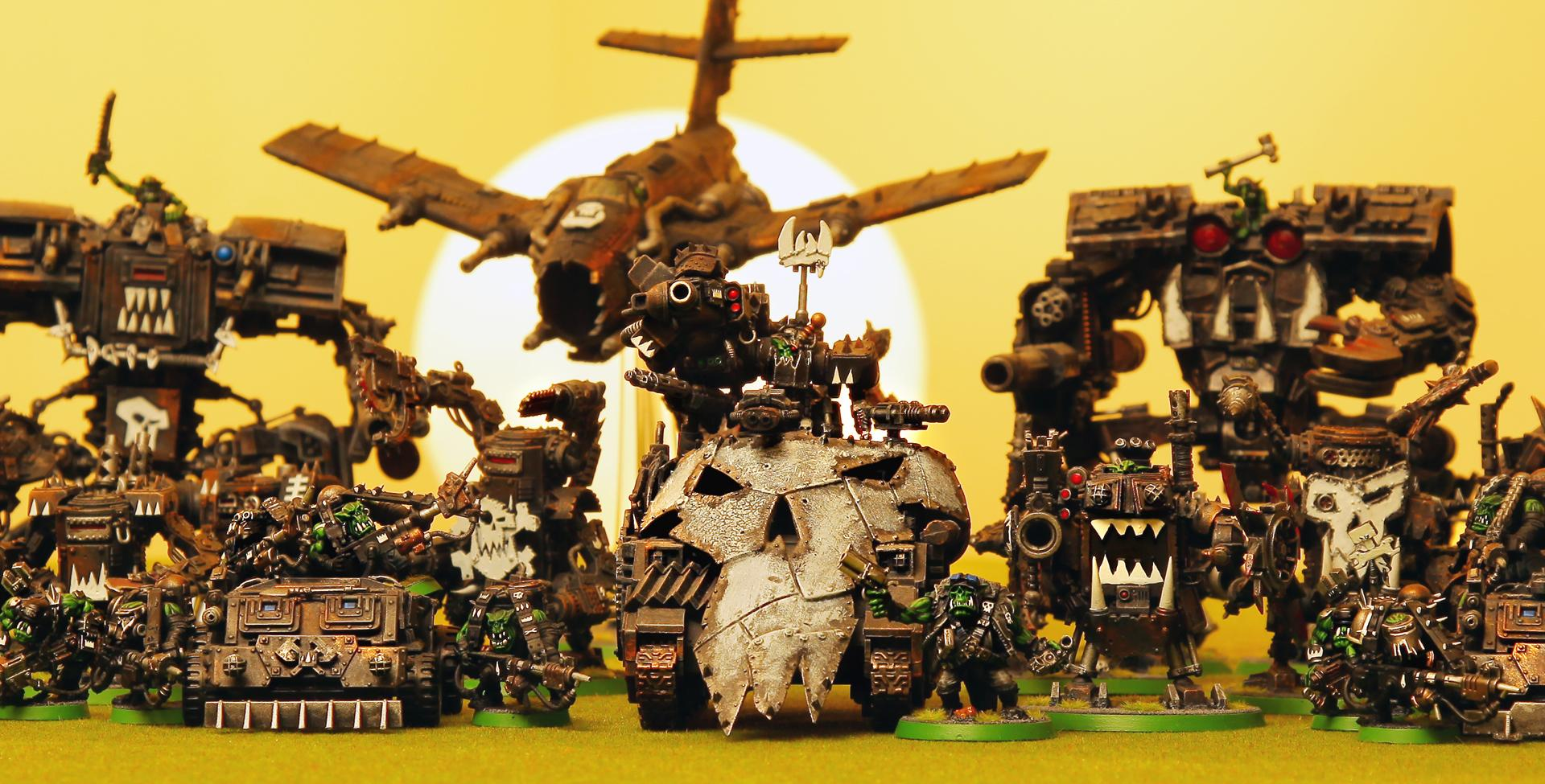 Deff Dread, Dread Mob, Killa Kan, Killa Kans, Mega Dread, Meka Dread, Mekboy, Ork Dread, Ork Dread Mob, Ork Dreadnought, Ork Goffs, Orks