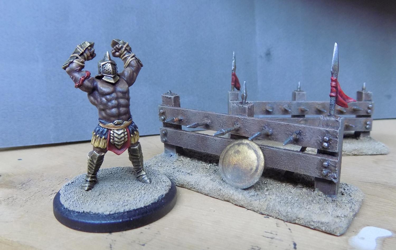 Arena Rex, Fence, Gladiators, Micon, Red Republic Games, Spikes, Terrain