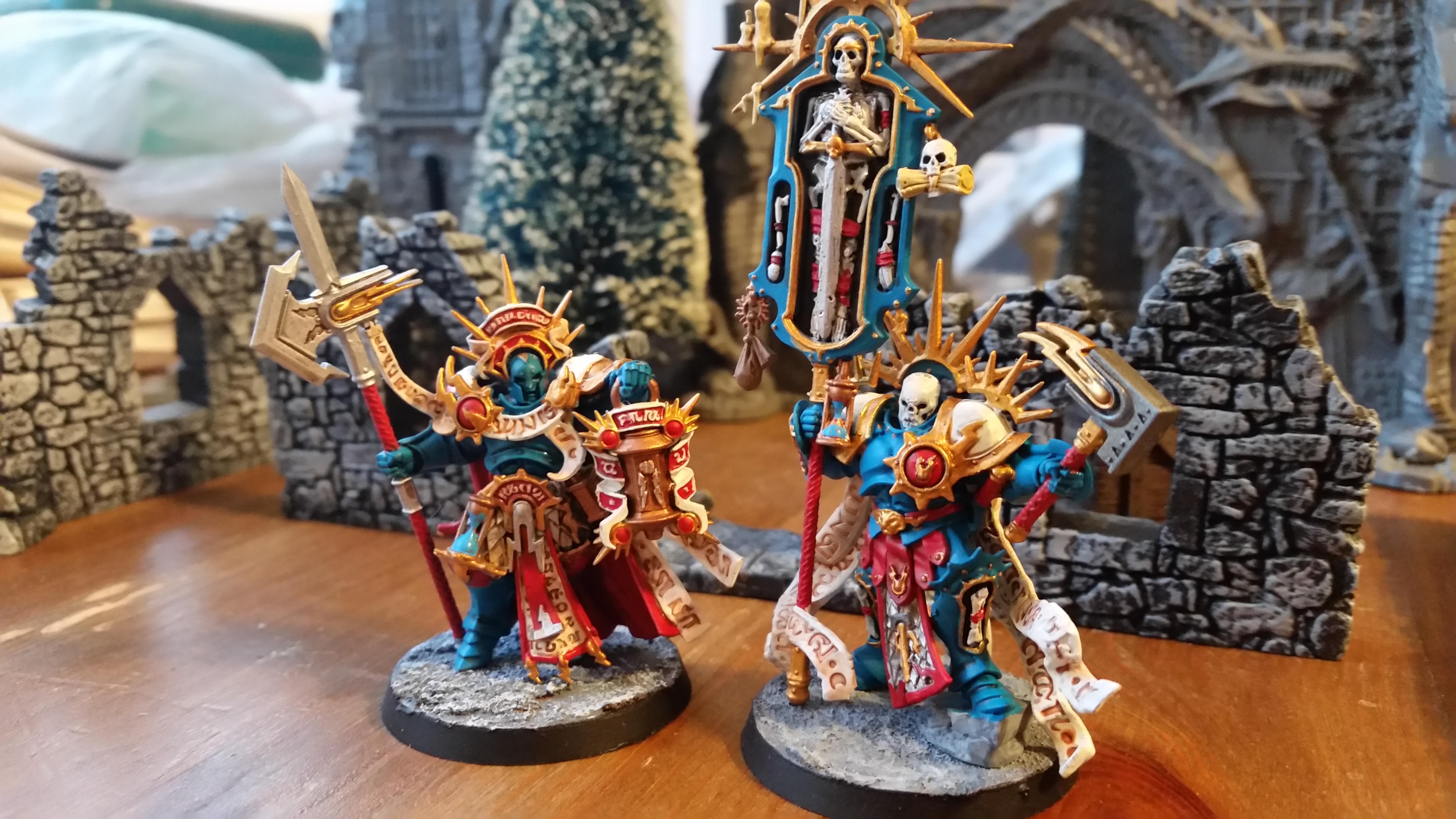 Age Of Sigmar, Celestial Vindicators, Lord Castellan, Lord Relictor, Stormcast Eternals