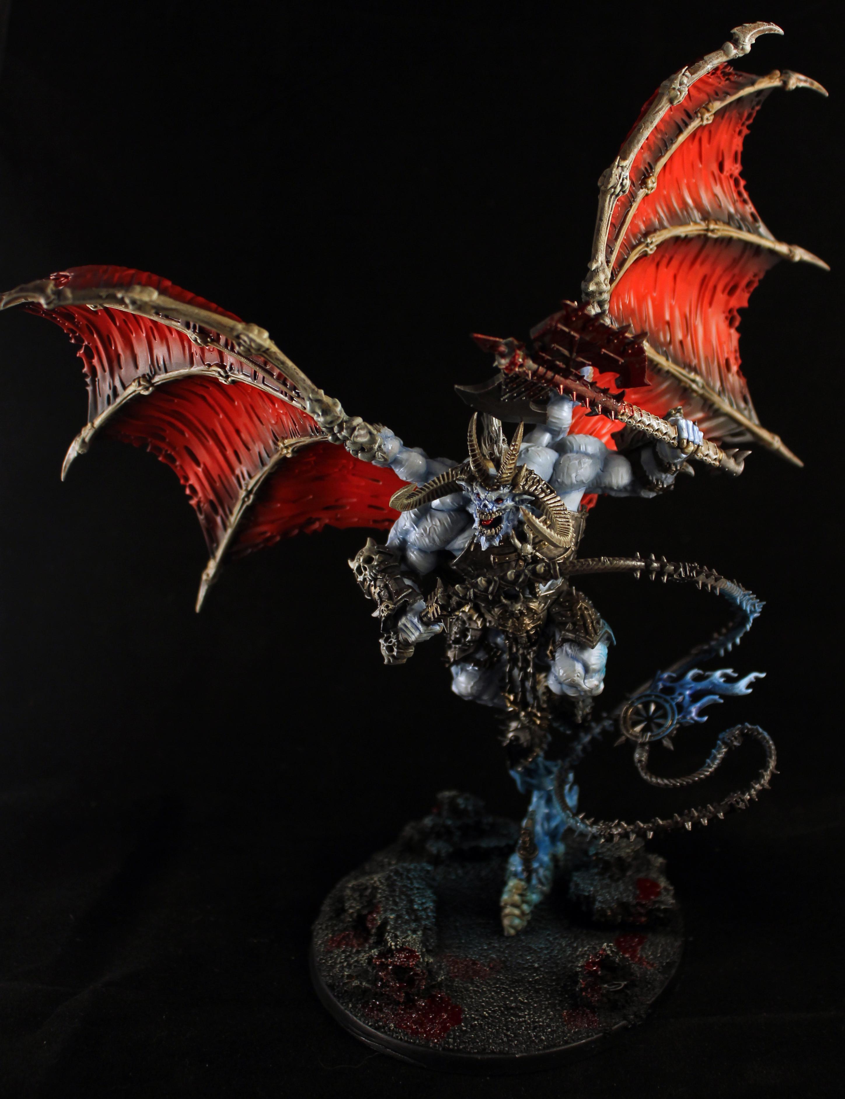 Bloodthirster, Chaos, Chaos Daemons, Chaos Deamon, Daemons, Khorne, Warhammer 40,000, Warhammer Fantasy