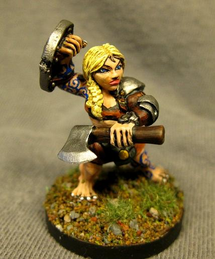 Dungeons And Dragons, Female Dwarf Barbarian, Pathfinders, Reaper Miniatures, Reaper Minis, Rpg