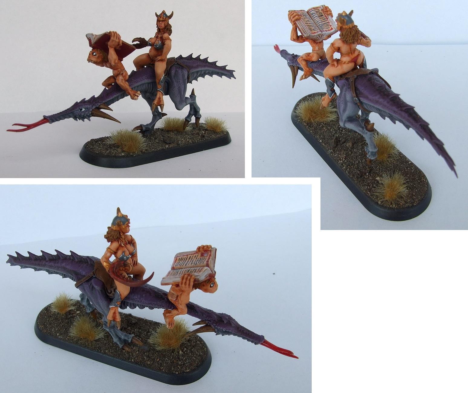 Conversion, Daemons, Female, Herald, Seeker, Slaanesh, Warhammer 40,000