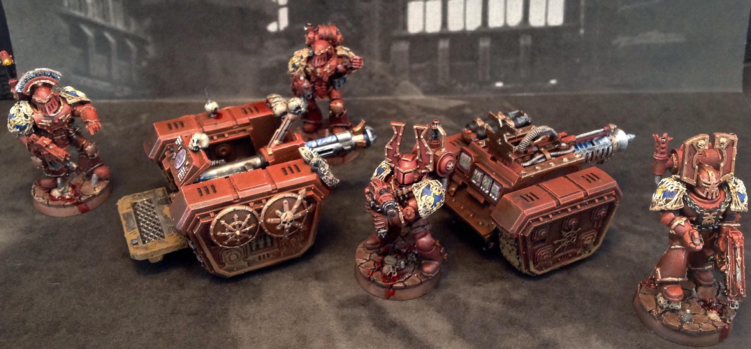 30k, Chaos, Chaos Space Marines, Khorne, Rapier, Space, Space Marines, Squad, Warhammer 40,000