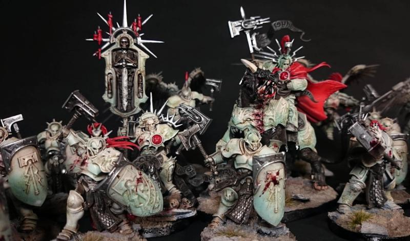 Age Of Sigmar Gore Lord Celestant Marble Sigmarines