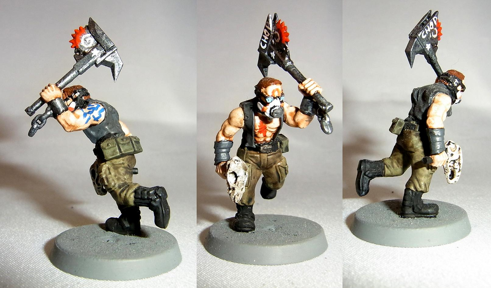 Borderlands, Buzzaxe, Conversion, Cultist, Gas, Korbenn, Mask, Psycho, Tattoo