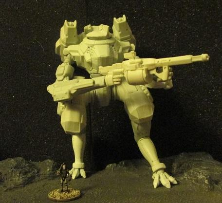 Salamander mech compared to 15mm
