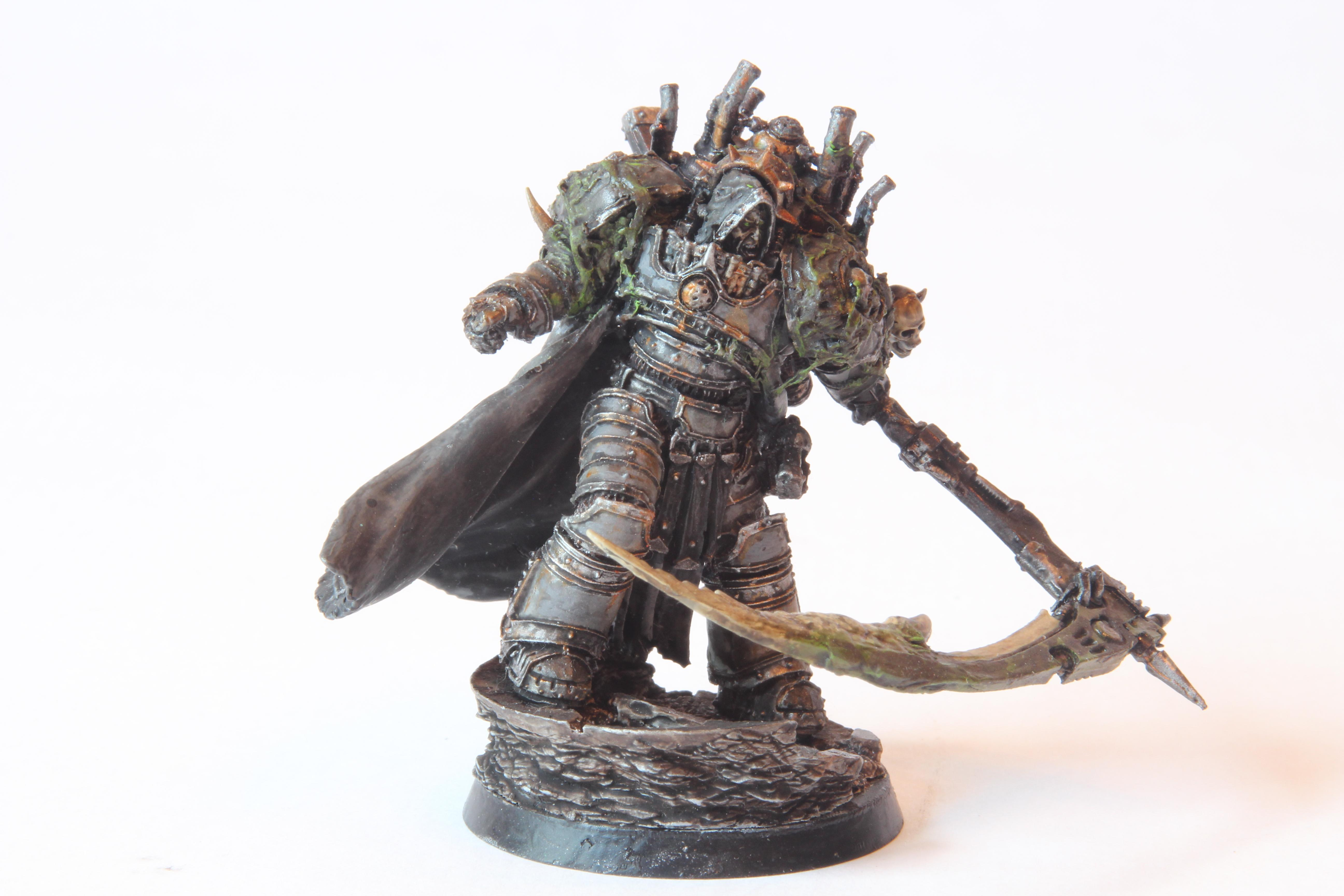 14th Legion, 30k, Barbarn Plate, Conversion, Count The Seven, Death Guard, Death Lord, First Son Of Nurgle, Forge World, Greenstuff, Horus Heresy, Lord Of Barbarous, Mortarion, Nurgle, Primarch, Prince Of Decay, Reaper, Silence, Skull, Warhammer Fantasy