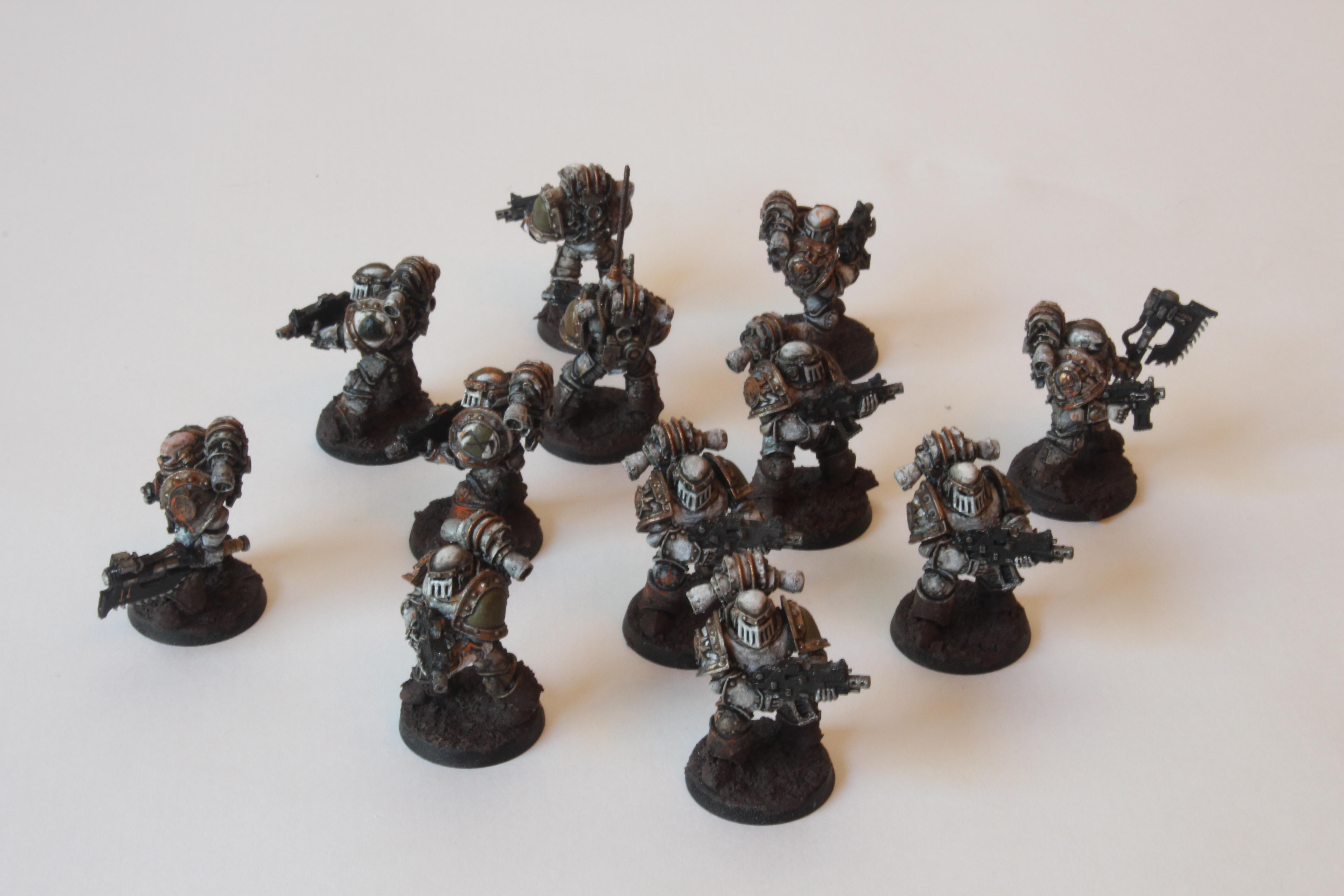 14th Legion, 30k, Bolters, Chaos Space Marines, Death Guard, Forge World, Frag Grenades, Horus Heresy, Nuncio-vox, Nurgle, Power Armor, Power Axe, Tactical Squad, Troops