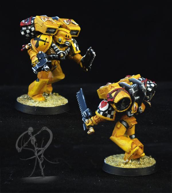 Badab War, Blood Angels, Freehand, Non-Metallic Metal, Space Marines, Yellow