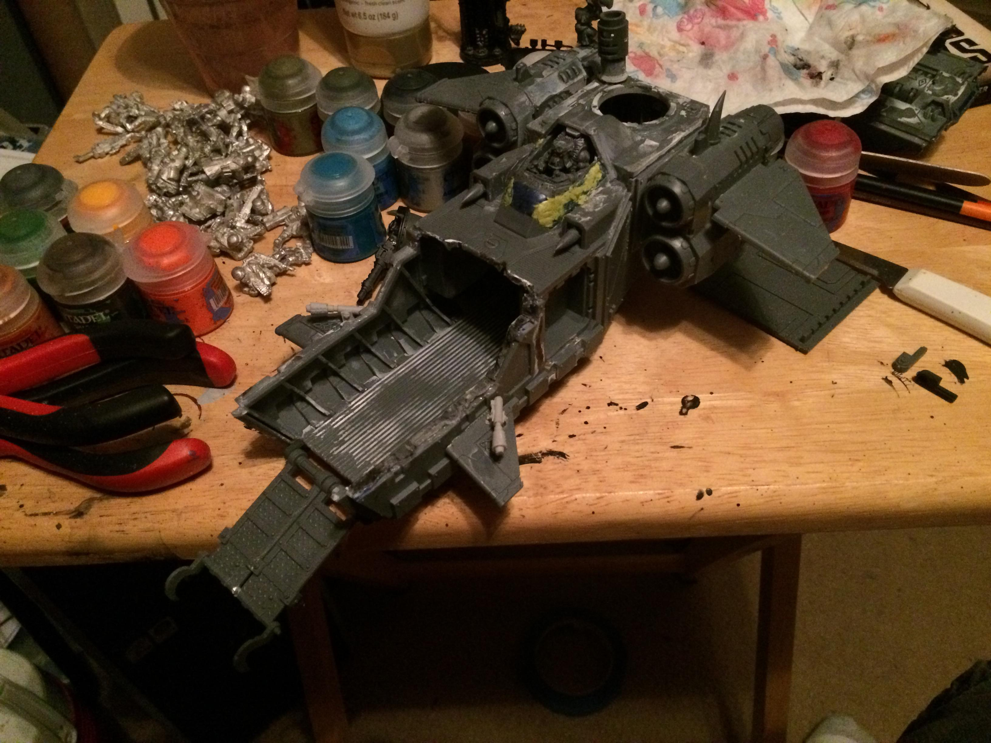New putty to fill in the gaps and attached assault ramp