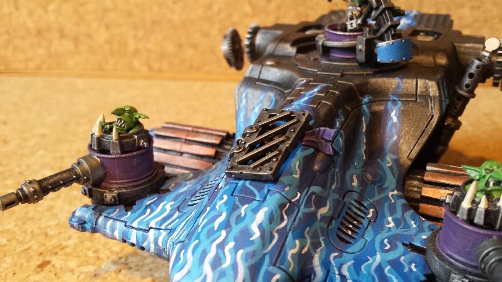 Grot Pilot, Looted Devilfish, Looted Wagon, Ork Vehicle, Orks, Tau Vehicle