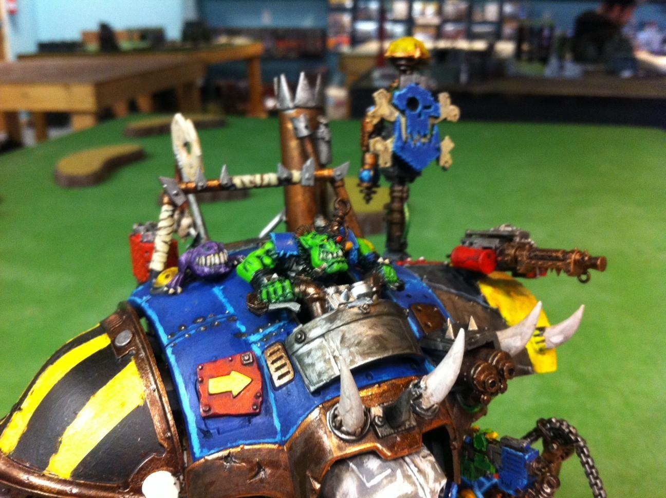 Big Mek, Conversion, Knights, Looted, Orks, Stolen, Warhammer 40,000