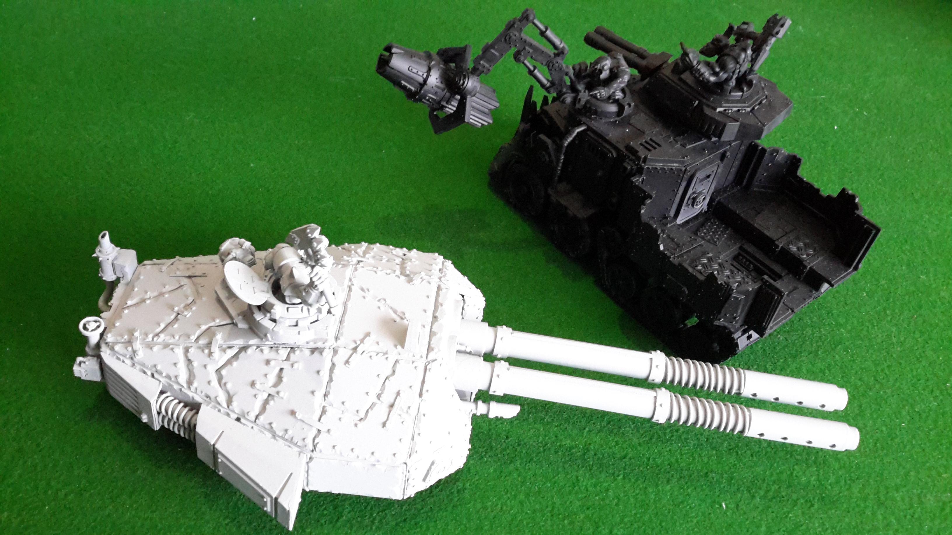 Battleship, Cannon, Orks, Ship, Tank, Turret