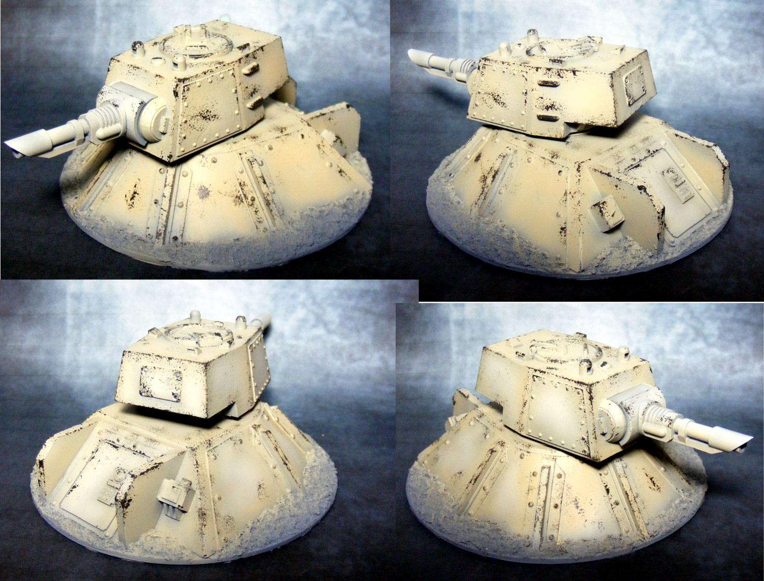 Astra Militarum, Emplacement, Imperial Guard, Resin, Scratch Build, Turret, Weathered