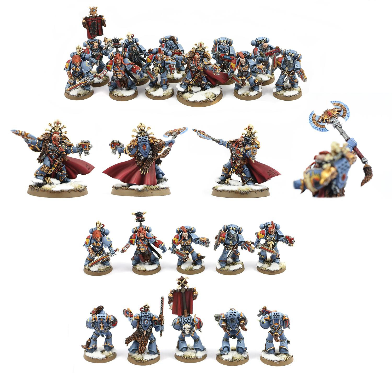 40 000, Blood Claws, Grey Hunters, Space Marines, Space Wolves, Terminator Armor, Warhammer 40,000, Wolf Guard