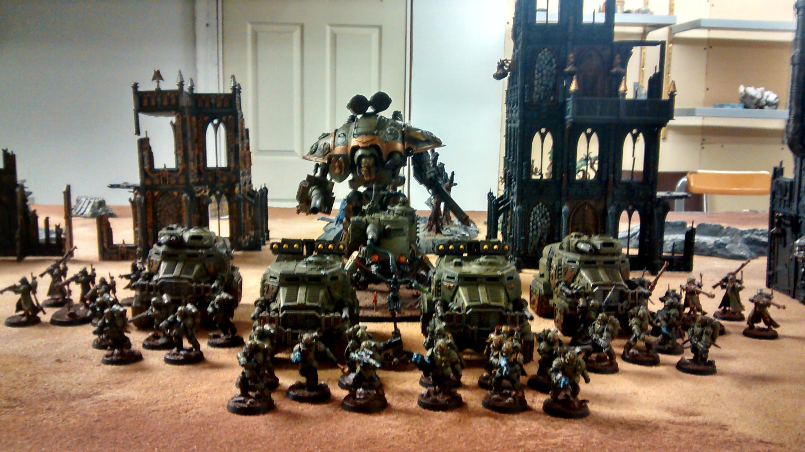 Assassin, Delta Mantises, Imperial Knight, Scion, Scions, Skitarii, Taurox
