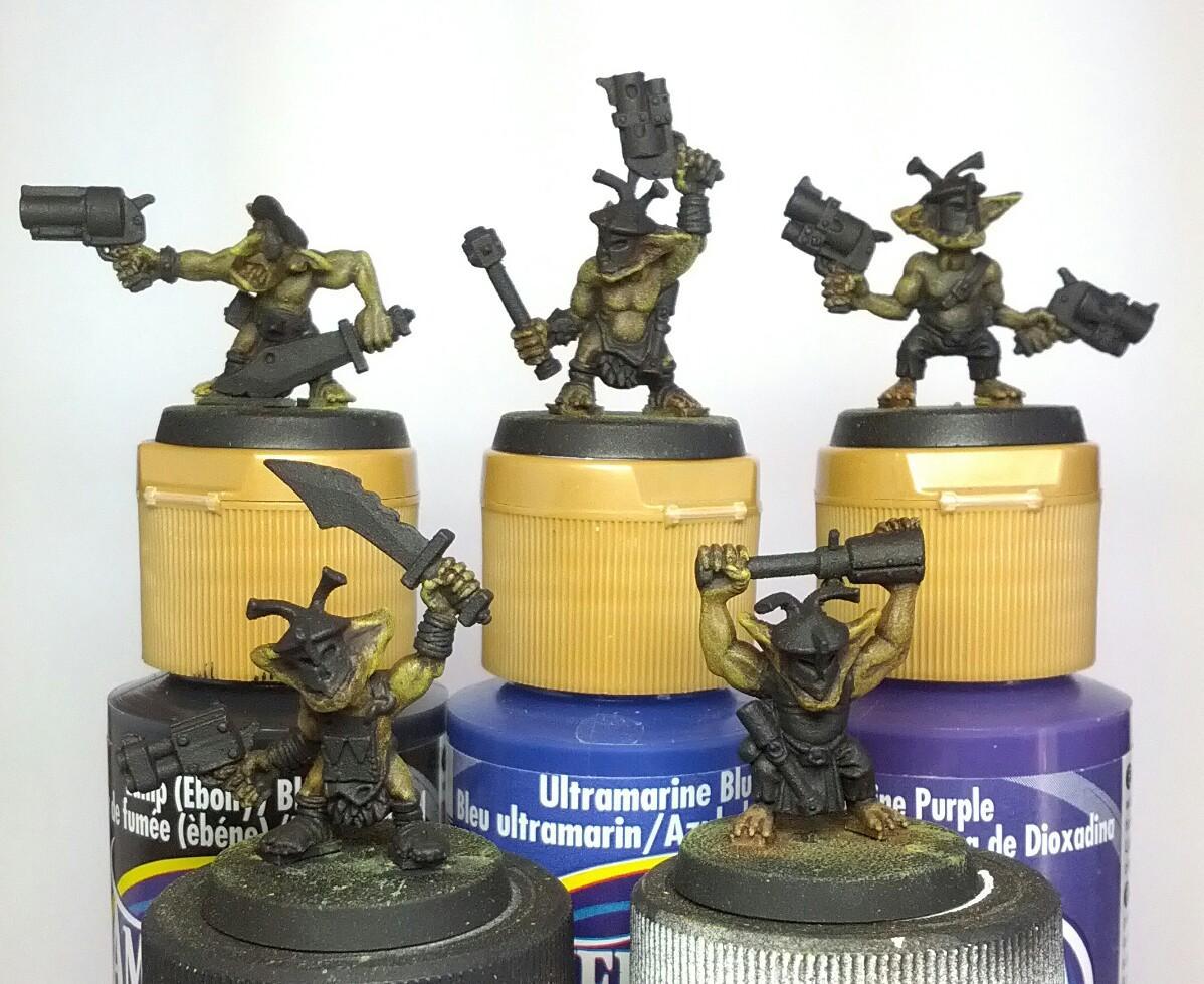 Custom, Greenstuff, Gretchen, Gretchin, Grots, Orks, Work In Progress