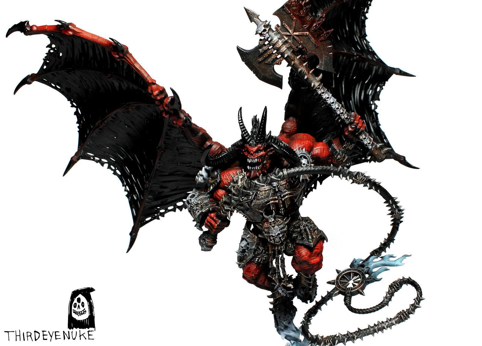 Chaos, Daemons, Khorne Bloodthirster, Thirdeyenuke, Warhammer Fantasy